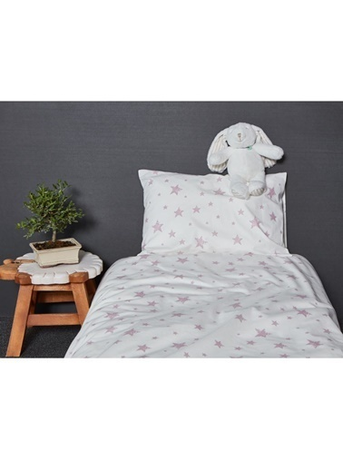 Hibboux 100x150 Star Bebek Nevresim + Yastık Kılıfı - W.Lavender Renkli